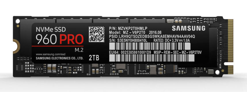 NVMe SSD Samsung 960 pro