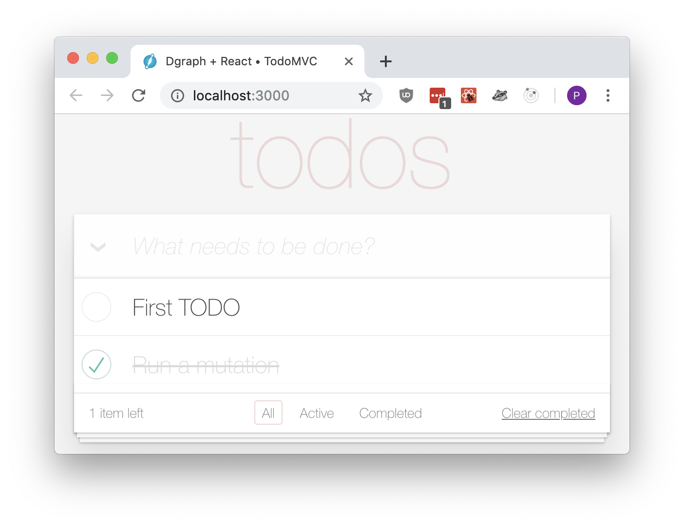 Correct completed status in TodoMVC
