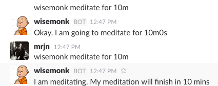 Asking wisemonk to meditate