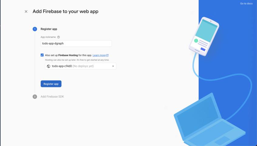 Firebase Create Webapp